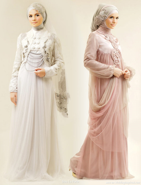 New Arabic bridal Dresses collection and hijabs for Muslim ...