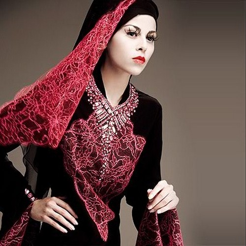 New Arabic bridal Dresses collection and hijabs for Muslim Women 2014-2015 (9)