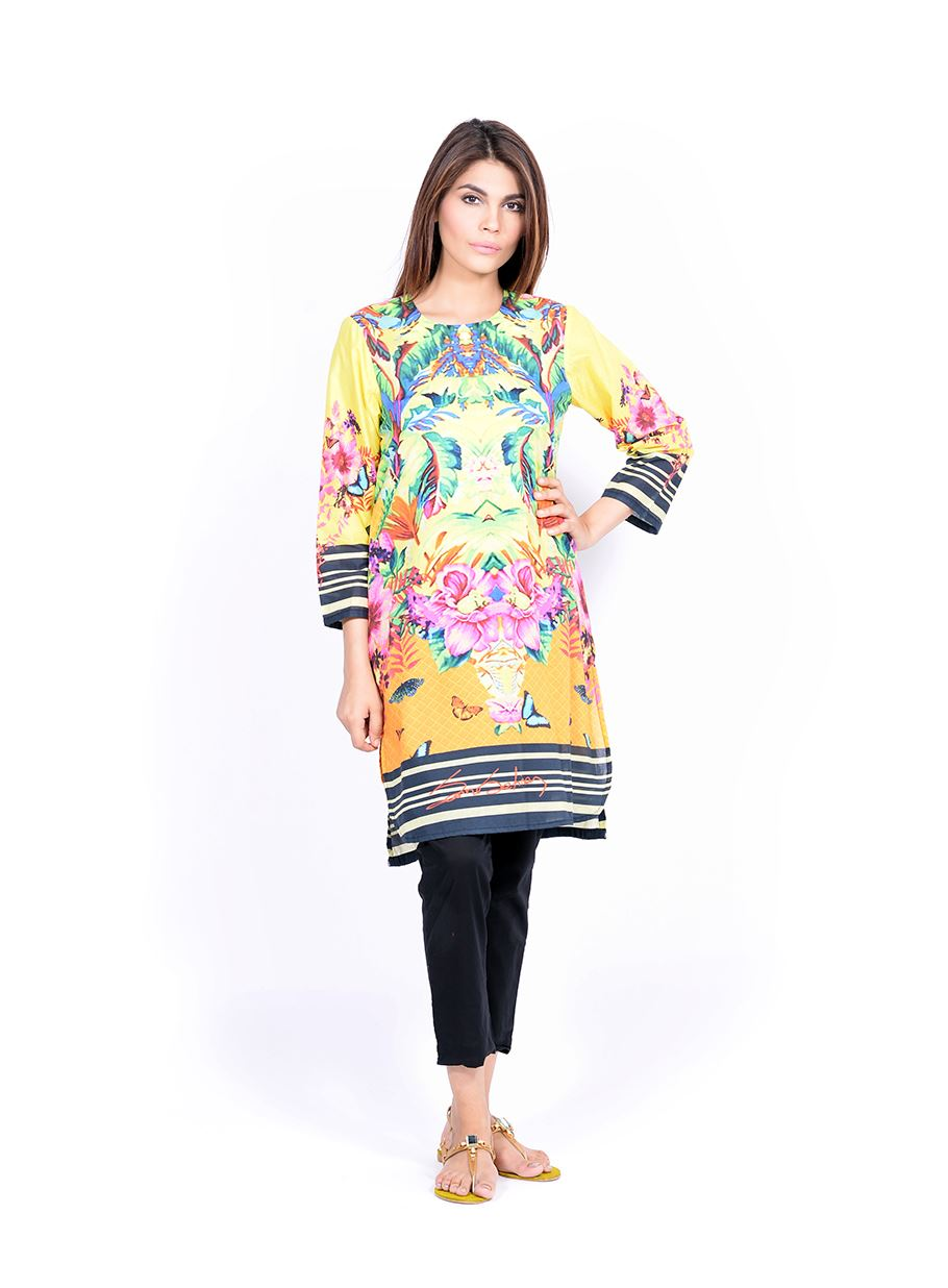 Sana Safinaz Printed & Embroidered Kurtas 2016-2017 Eid Collection (23)