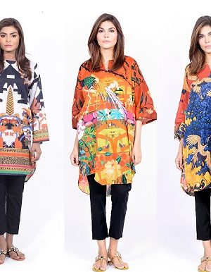Sana Safinaz Printed & Embroidered Kurtas 2016-2017 Eid Collection