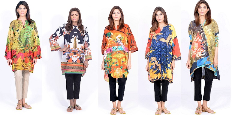 Sana Safinaz Printed & Embroidered Kurtas 2016-2017 Eid Collection