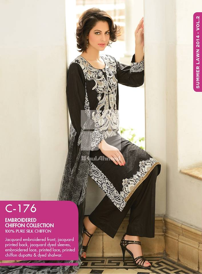 Women Latest Collection of Formal Wear Fancy * Embroidered Festive Dresses By Gul Ahmed (42)