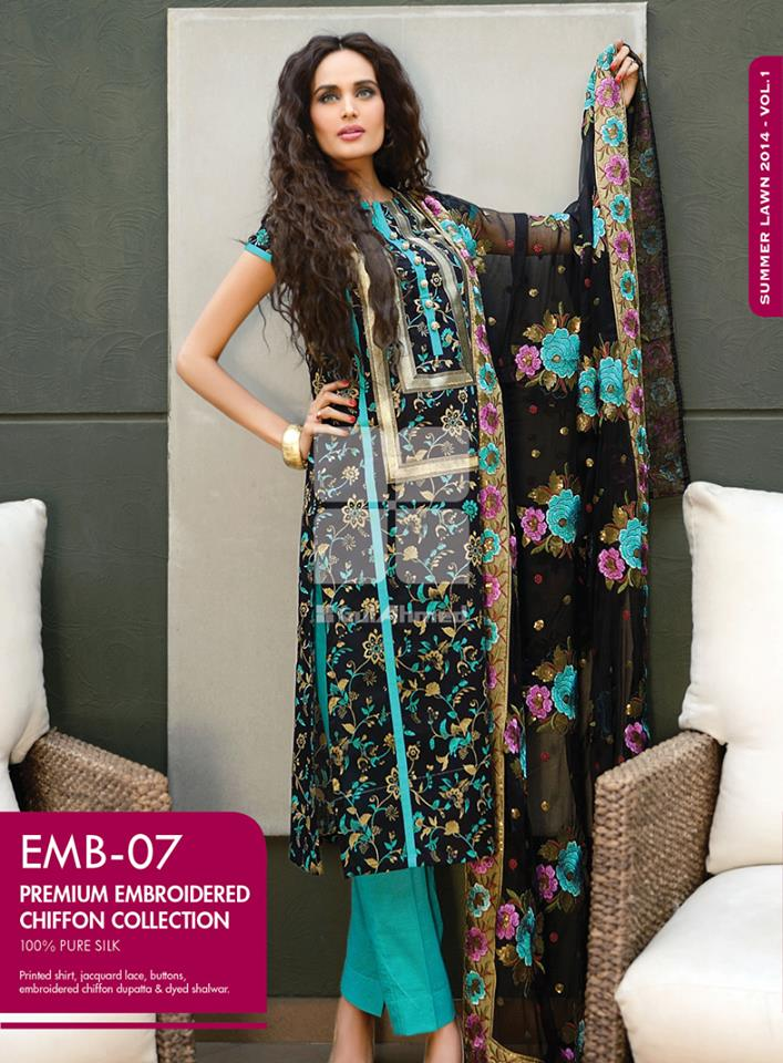 Women Latest Collection of Formal Wear Fancy * Embroidered Festive Dresses By Gul Ahmed (38)