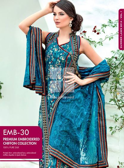 Women Latest Collection of Formal Wear Fancy * Embroidered Festive Dresses By Gul Ahmed (40)