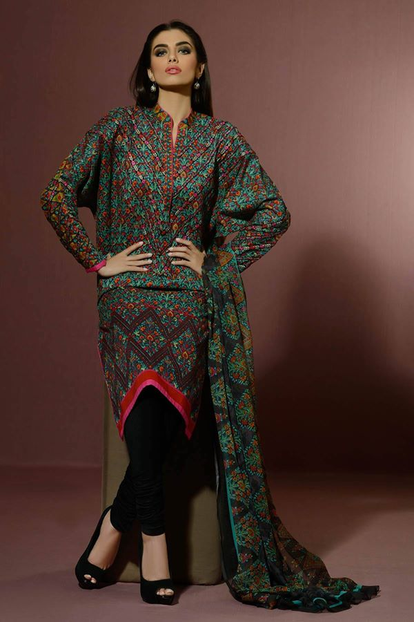 Alkaram Studio Latest Collection of Stylish and Best Eid Dresses for Women 2014-2015 (4)