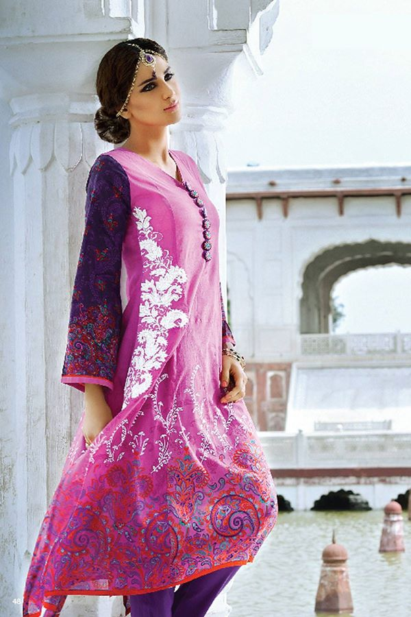 Alkaram Studio Latest Collection of Stylish and Best Eid Dresses for Women 2014-2015 (5)