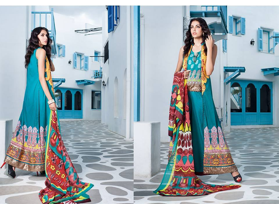 Firdous Monsoon Fancy Embroidered Lawn Eid Dress Collection 2014- 2015 (13)