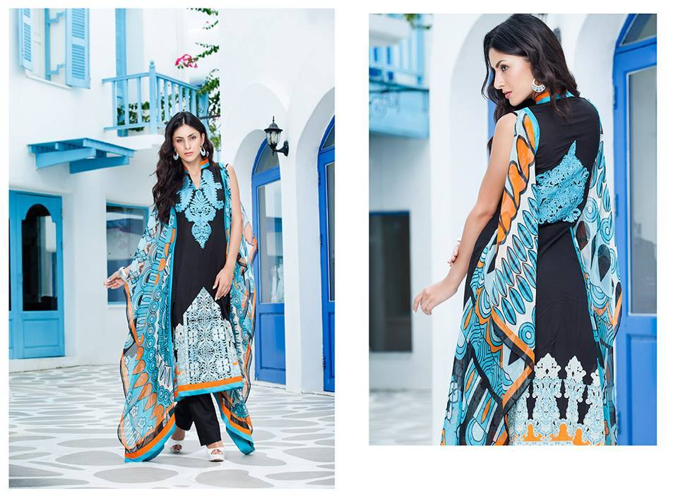 Firdous Monsoon Fancy Embroidered Lawn Eid Dress Collection 2014- 2015 (5)