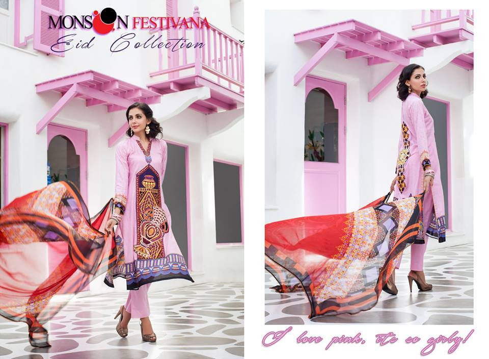 Firdous Monsoon Fancy Embroidered Lawn Eid Dress Collection 2014- 2015 (6)
