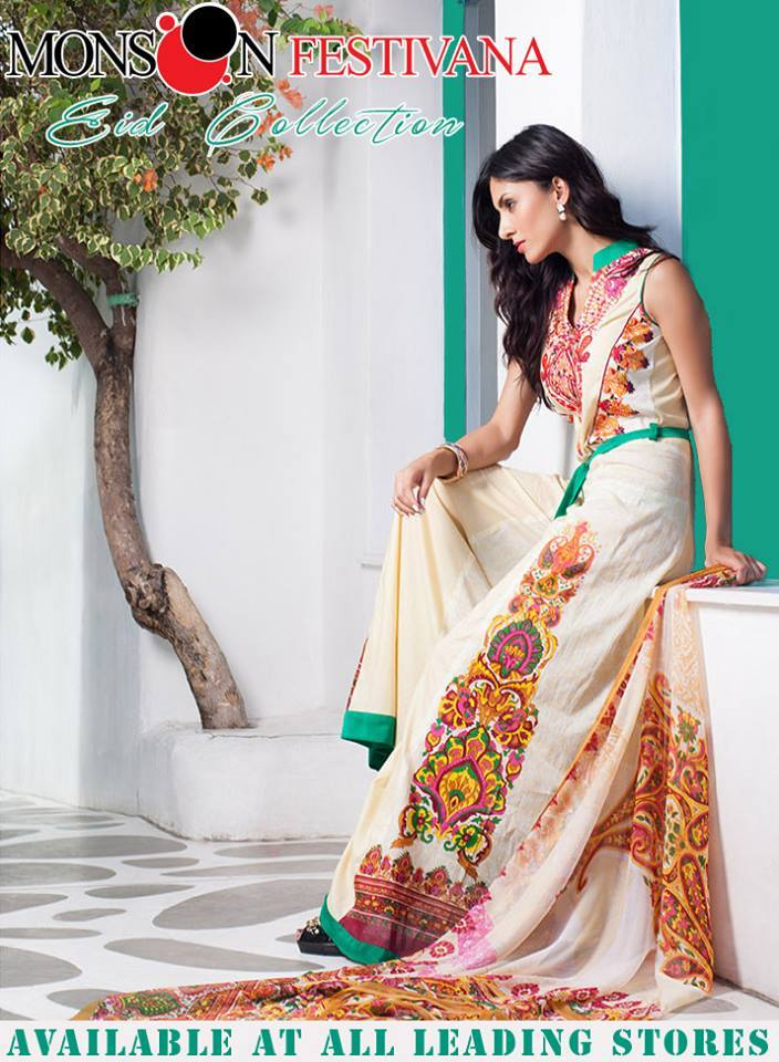 Firdous Monsoon Fancy Embroidered Lawn Eid Dress Collection 2014- 2015 (7)