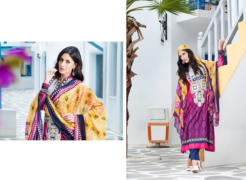 Firdous Monsoon Fancy Embroidered Lawn Eid Dress Collection 2014- 2015 (8)