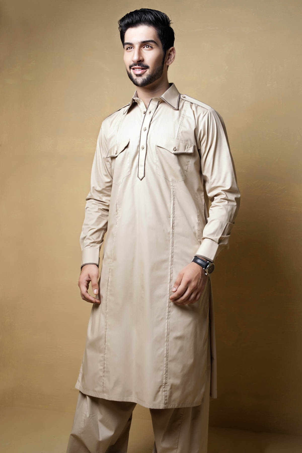 Latest Bonanza Men Kurtas & Shalwar Kameez Eid Collection 2016-2017 (1)