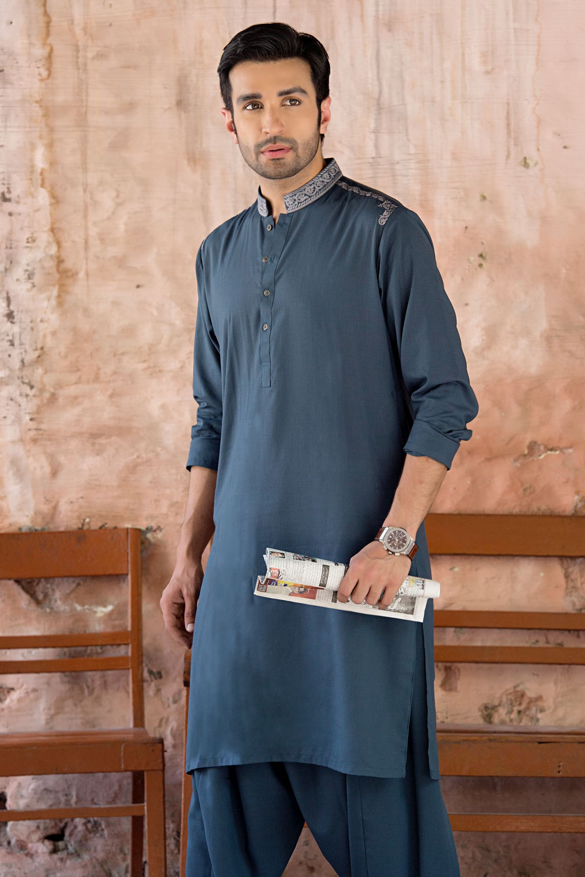 Latest Bonanza Men Kurtas & Shalwar Kameez Eid Collection 2016-2017 (3)