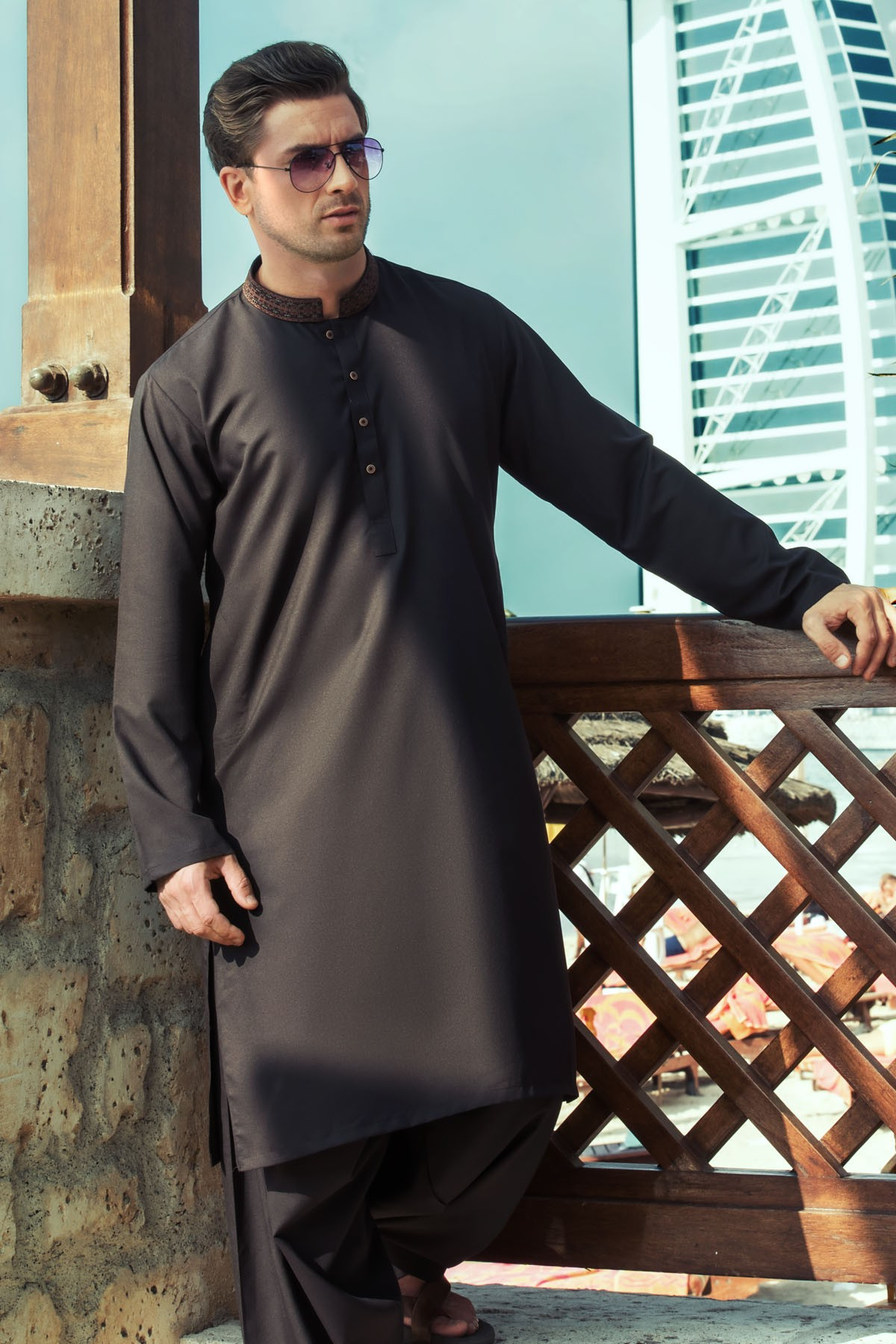 Latest Bonanza Men Kurtas & Shalwar Kameez Eid Collection 2016-2017 (4)