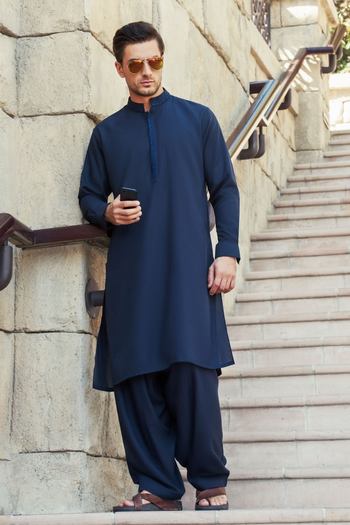 Latest Bonanza Men Kurtas & Shalwar Kameez Eid Collection 2016-2017 (8)