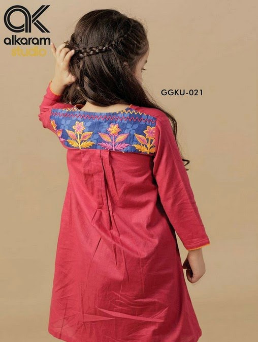 Latest Eid Festival Collection of Kids Wear Formal Dresses For Little Boys and Girls by Al Karam Studio 2014-2015 (13)