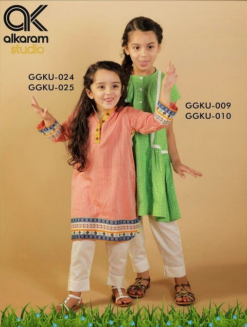 Latest Eid Festival Collection of Kids Wear Formal Dresses For Little Boys and Girls by Al Karam Studio 2014-2015 (14)