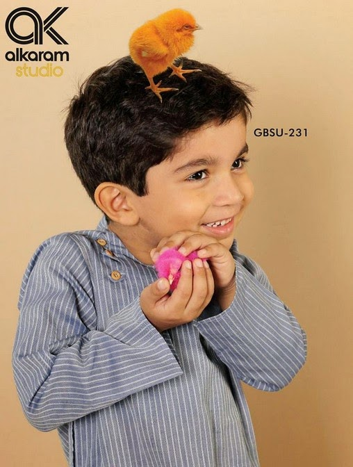 Latest Eid Festival Collection of Kids Wear Formal Dresses For Little Boys and Girls by Al Karam Studio 2014-2015 (15)