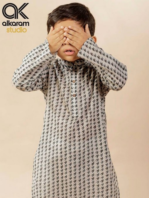 Latest Eid Festival Collection of Kids Wear Formal Dresses For Little Boys and Girls by Al Karam Studio 2014-2015 (17)