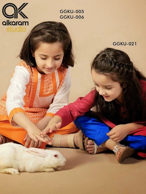 Latest Eid Festival Collection of Kids Wear Formal Dresses For Little Boys and Girls by Al Karam Studio 2014-2015 (18)