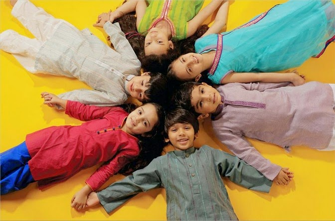 Latest Eid Festival Collection of Kids Wear Formal Dresses For Little Boys and Girls by Al Karam Studio 2014-2015 (3)