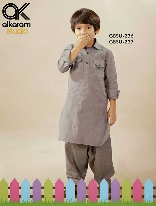 Latest Eid Festival Collection of Kids Wear Formal Dresses For Little Boys and Girls by Al Karam Studio 2014-2015 (8)