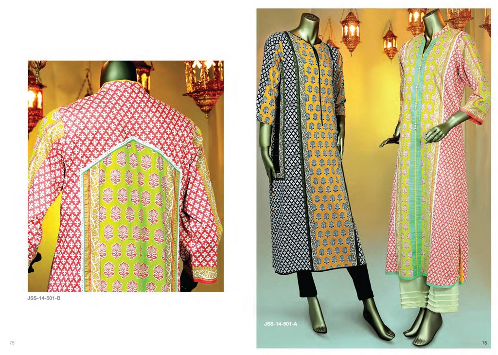 Latest Fasion of Kurtis Design Collection for Girls 2014-2015 --J.J Kurti Collection 2014 (10)