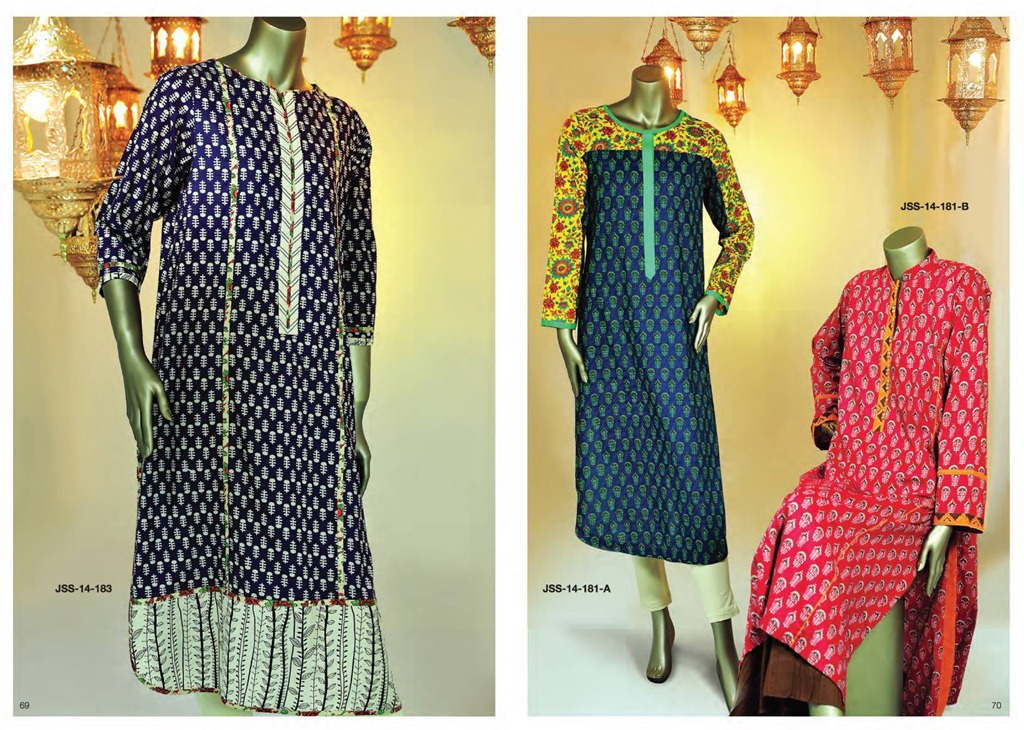 Latest Fasion of Kurtis Design Collection for Girls 2014-2015 --J.J Kurti Collection 2014 (7)