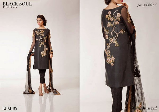 Luxury Pre Fall Winter Pret Formal Dresses Collection for women by Fahad Husayn 2014-2015 (1)