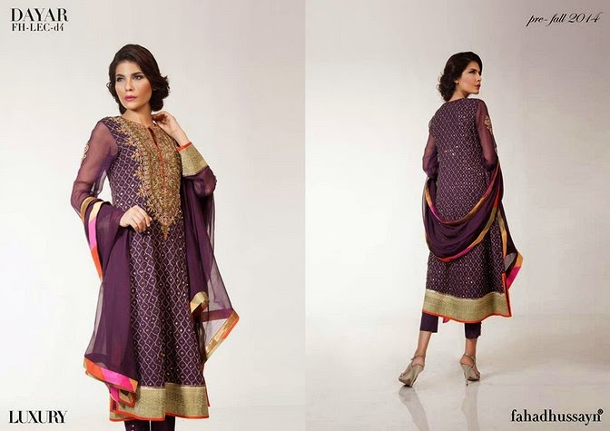 Luxury Pre Fall Winter Pret Formal Dresses Collection for women by Fahad Husayn 2014-2015 (2)