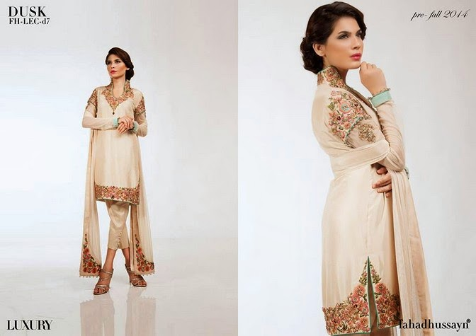 Luxury Pre Fall Winter Pret Formal Dresses Collection for women by Fahad Husayn 2014-2015 (5)