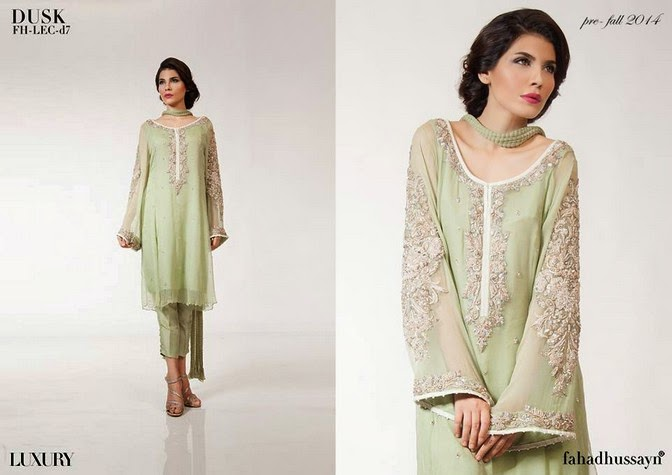 Luxury Pre Fall Winter Pret Formal Dresses Collection for women by Fahad Husayn 2014-2015 (6)