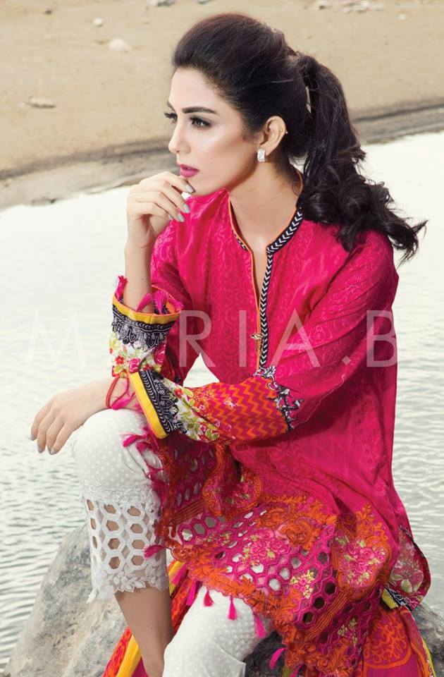 Maria B Lawn Amp Chiffon Eid Dresses 2016 17 Collection