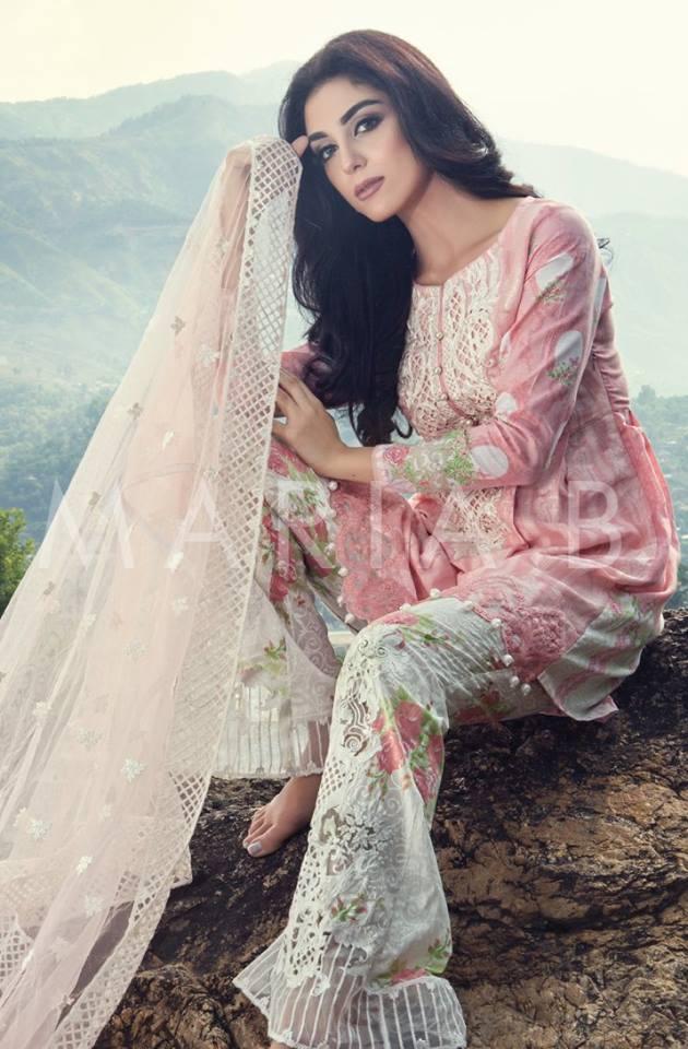 Maria B Lawn Amp Chiffon Eid Dresses 2016 17 Collection