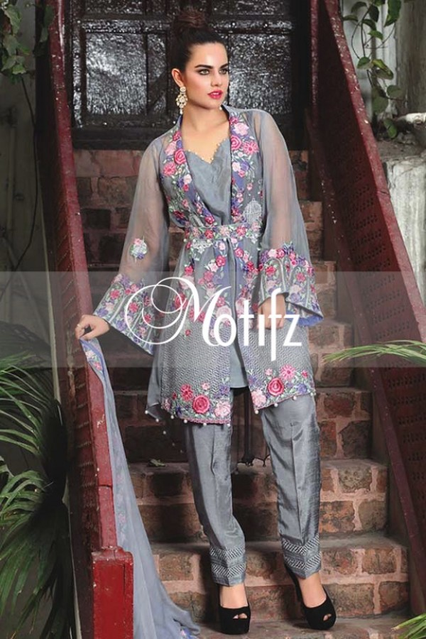 Motifz Embroidered Crinkle Chiffon Dresses Best Eid Collection 2016-2017 (17)