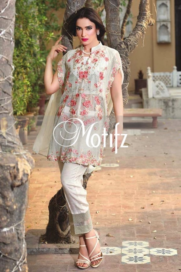 Motifz Embroidered Crinkle Chiffon Dresses Best Eid Collection 2016-2017 (18)