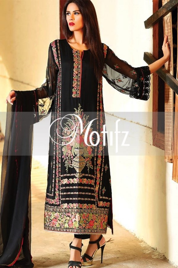 Motifz Embroidered Crinkle Chiffon Dresses Best Eid Collection 2016-2017 (23)