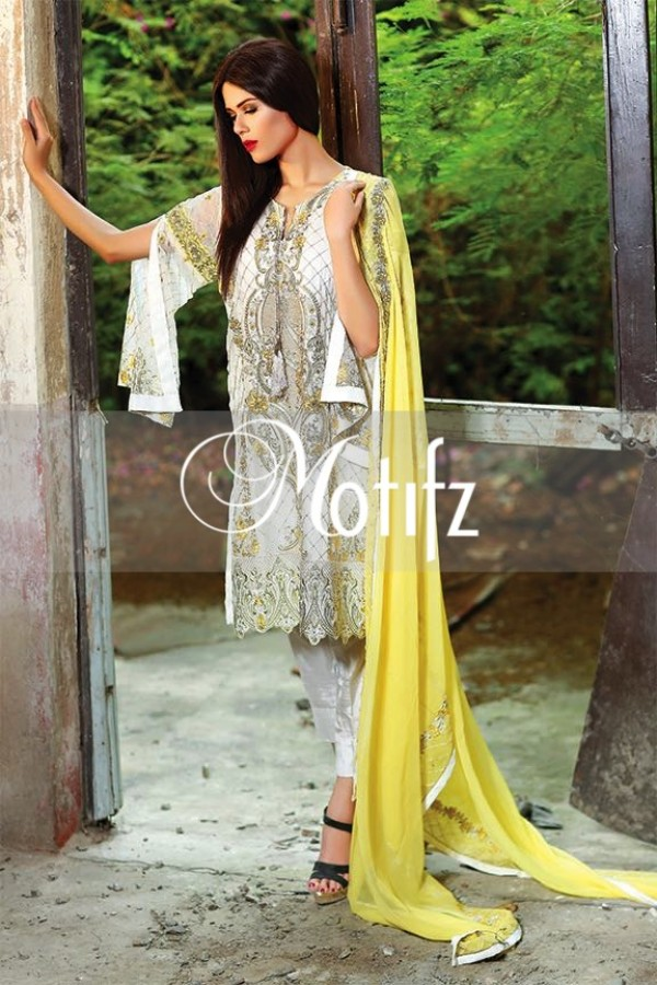 Motifz Embroidered Crinkle Chiffon Dresses Best Eid Collection 2016-2017 (24)