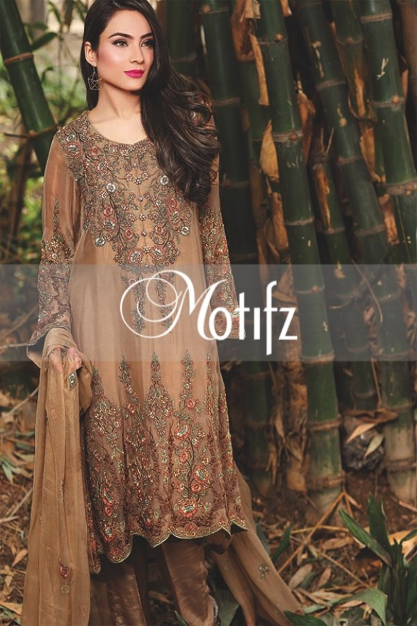 Motifz Embroidered Crinkle Chiffon Dresses Best Eid Collection 2016-2017 (25)