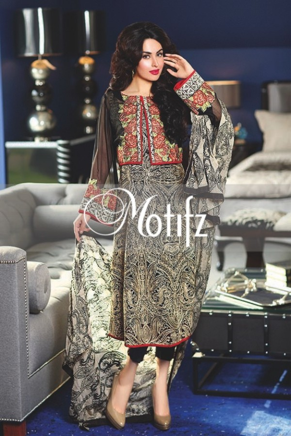 Motifz Embroidered Crinkle Chiffon Dresses Best Eid Collection 2016-2017 (26)
