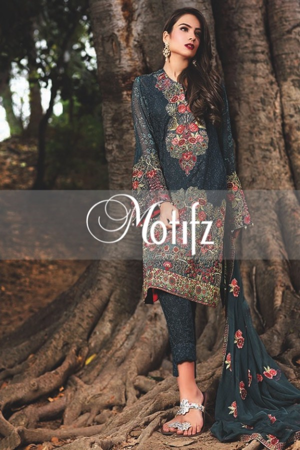 Motifz Embroidered Crinkle Chiffon Dresses Best Eid Collection 2016-2017 (28)