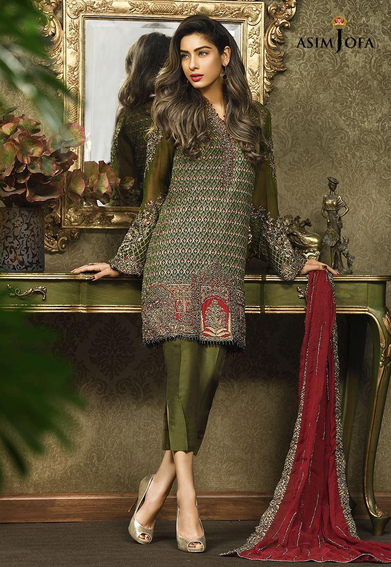 180d2e2d47 Pakistani Fancy Dresses Asim Jofa Mysorie Chiffon Collection 2017-18 (17)