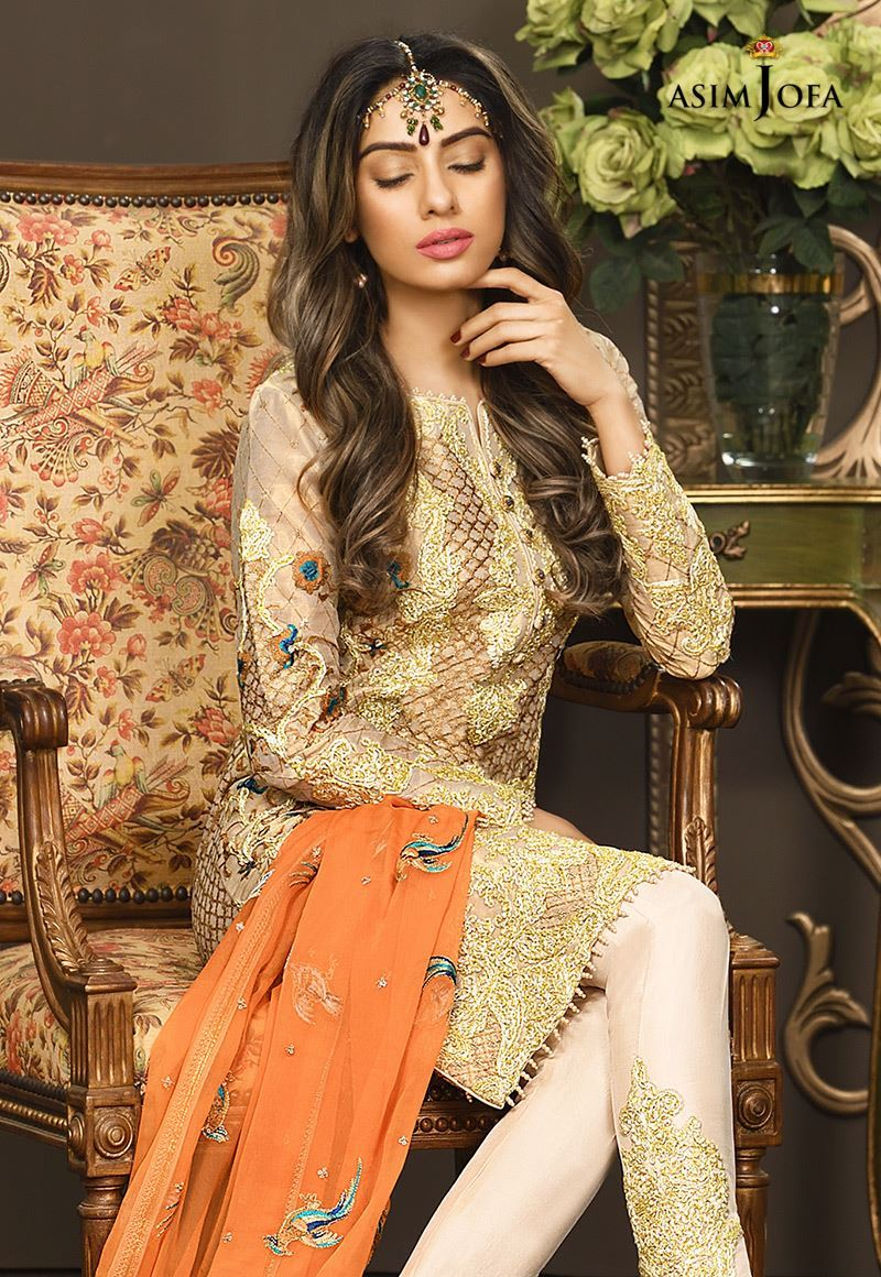 44665e2949 Have a look at the below-posted image gallery and get inspired by the  Pakistani Fancy Dresses Asim Jofa Mysorie Chiffon Collection.