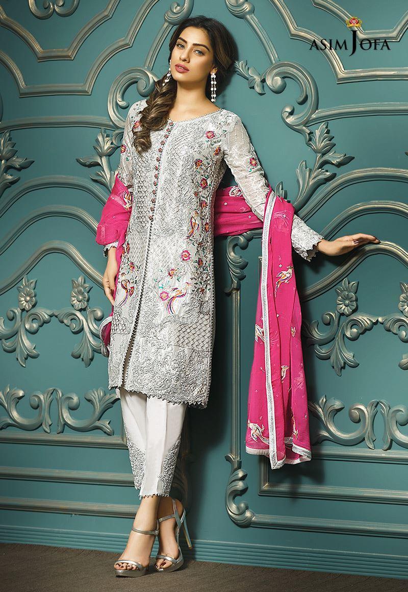 Orange Chiffon Its Fashion Metro Blouses Dark Brown: Pakistani Fancy Dresses Asim Jofa Mysorie Chiffon