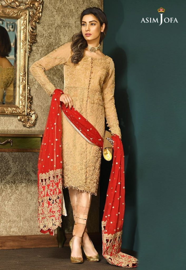 b735d22c1f Have a look at the below-posted image gallery and get inspired by the Pakistani  Fancy Dresses Asim Jofa Mysorie Chiffon Collection.