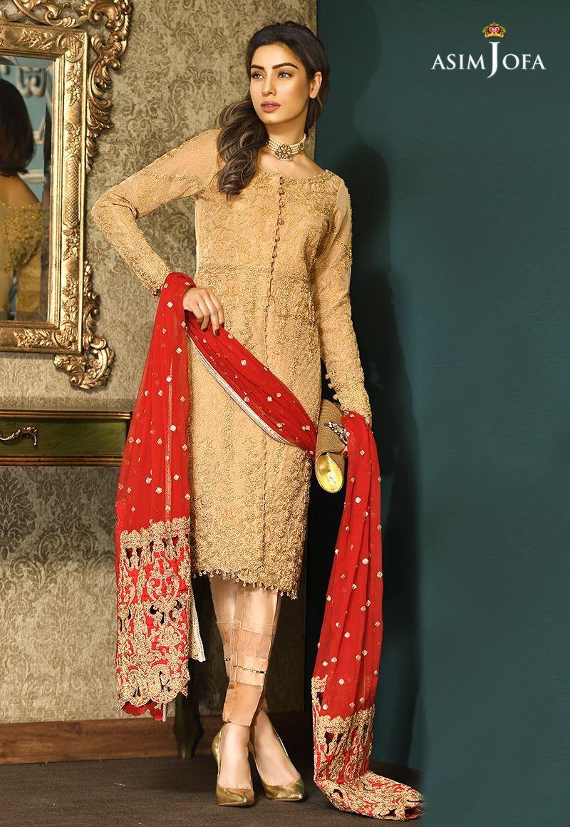 Pakistani Fancy Dresses Asim Jofa Mysorie Chiffon ...