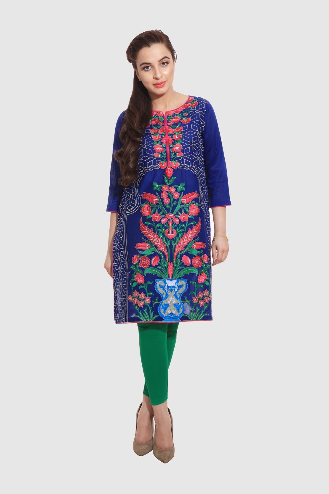 Rang ja formal eid dresses lawn collection 2016 - Rang Ja Trendy Eid Colorful Kurti Dresses 2017 2018 Collection