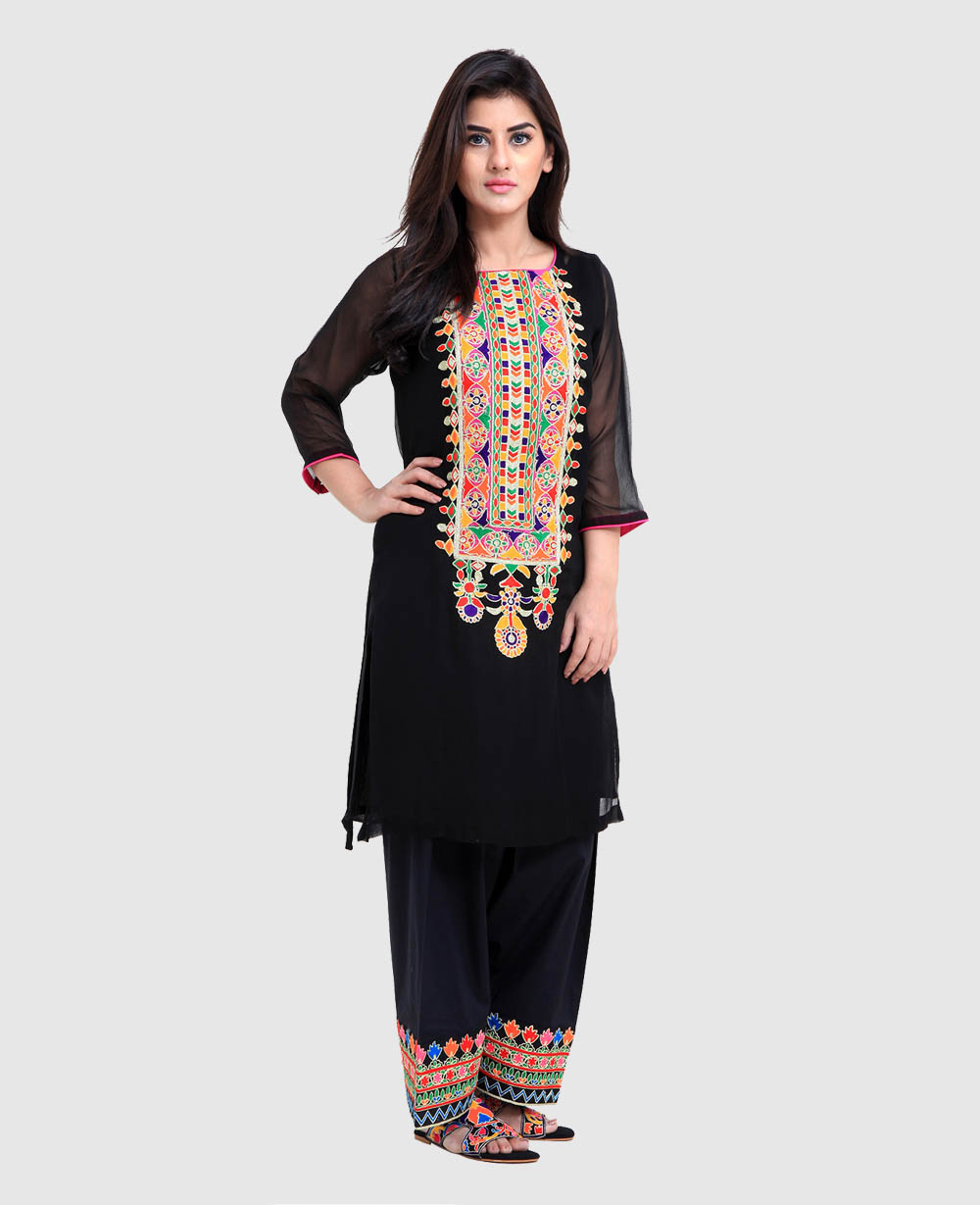 Beautiful Latest Eid Hairstyles Collection 2017 2018 For Women: Rang Ja Trendy Eid Colorful Kurti Dresses 2017-2018 Collection