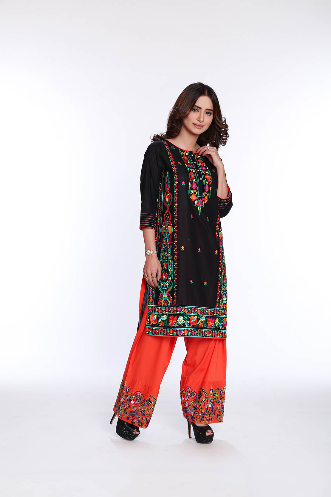 Rang Ja Trendy Eid Colorful Kurti Dresses 2017-2018 Collection