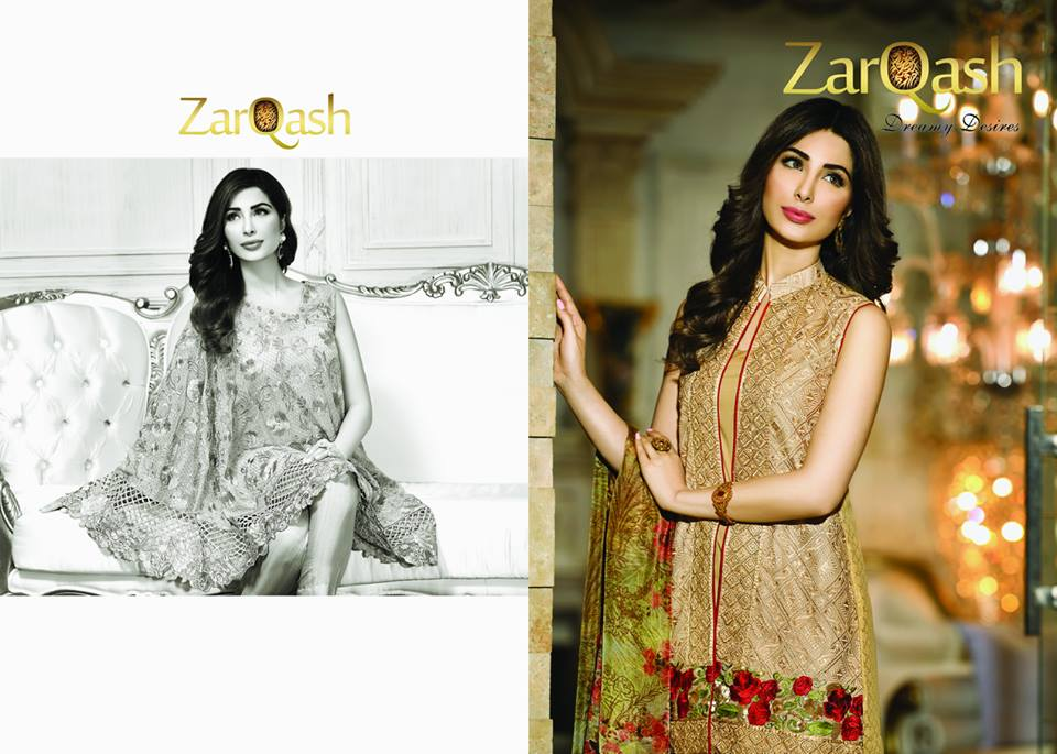 Zarqash Luxury Chiffon Suits Dreamy Desires Eid Collection 2016-2017 (8)